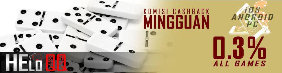bonus cashback judi poker terpercaya